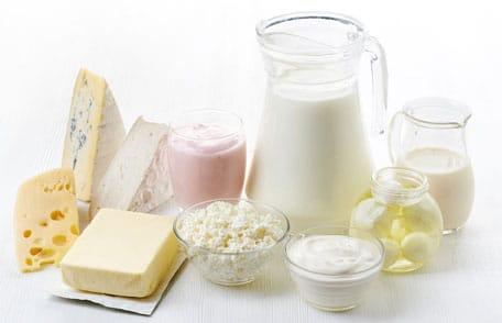 Alimentos que contienen Vitamina B12, Leche y productos lácteos