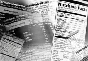 etiquetas de alimentos con carbohidratos