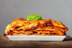 lasagna en el horno