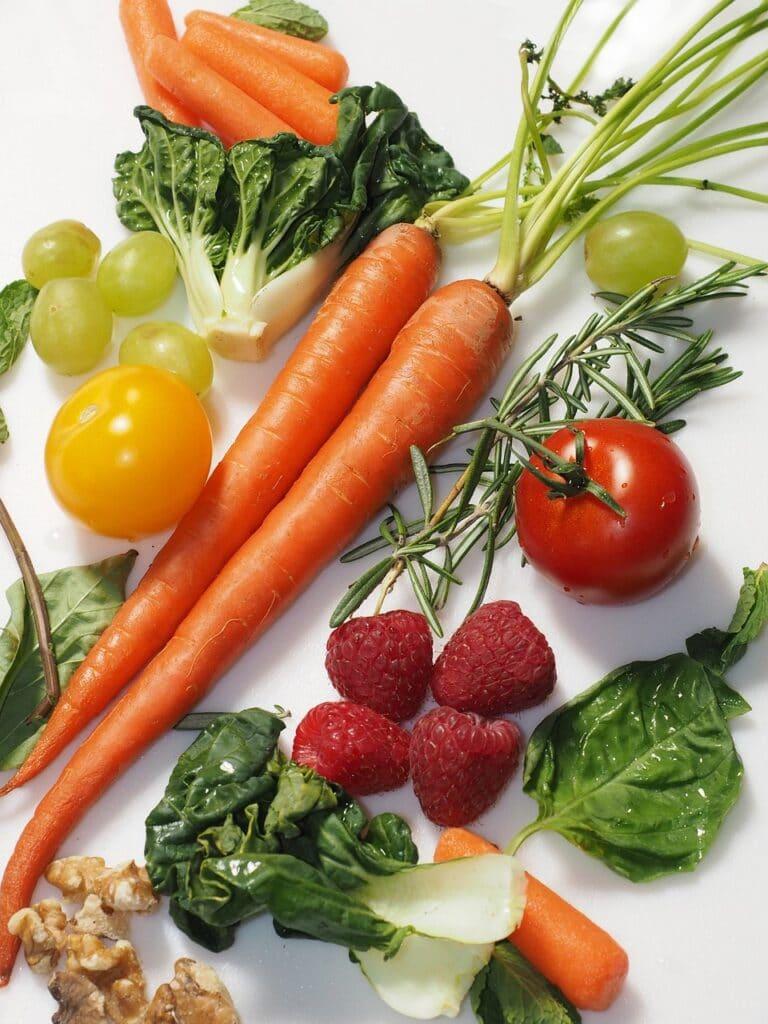Alimentos ricos en Vitamina A. @dbreen en Pixabay.