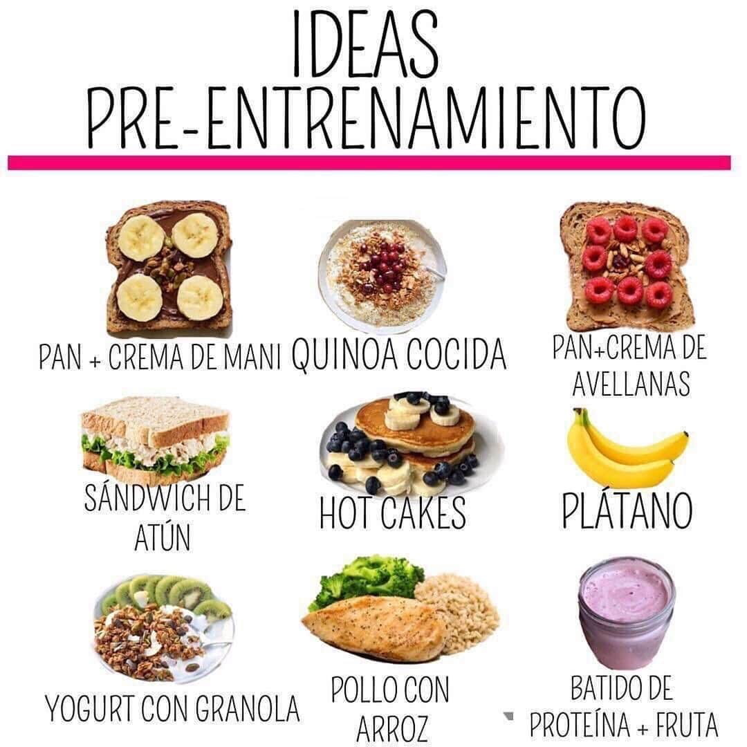 IDEAS PREENTRENO DIETA VOLUMEN