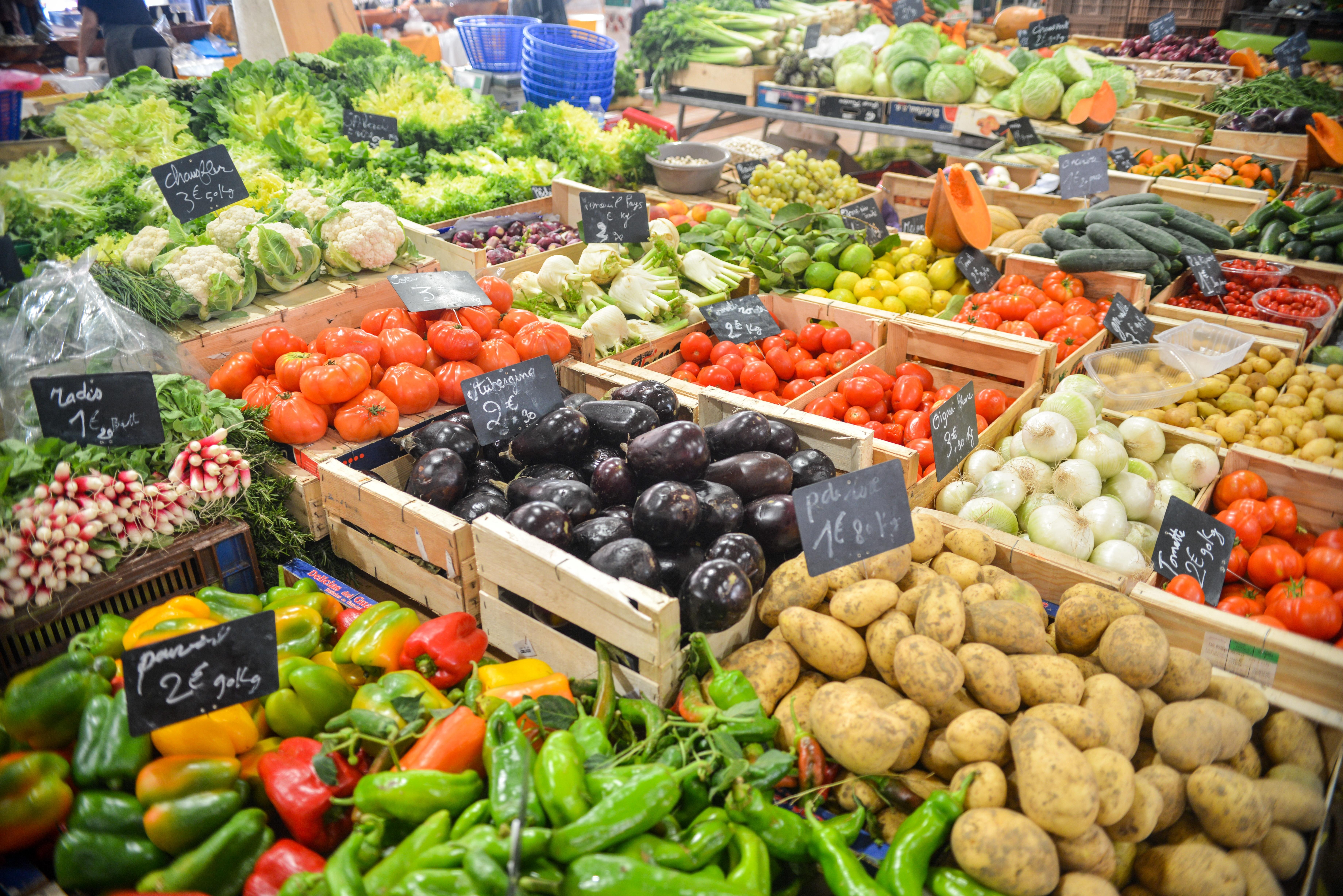 Las frutas y verduras son comida real